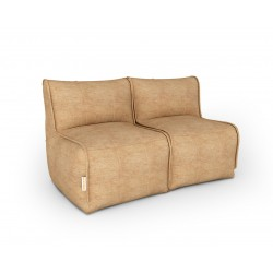 Бескаркасный диван песочный