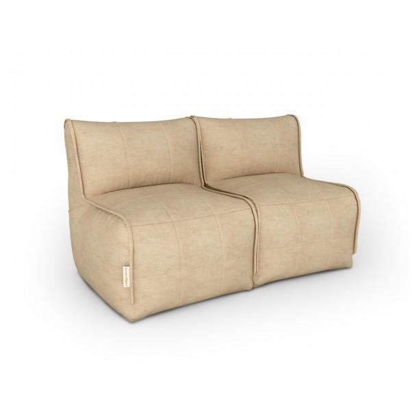 Бескаркасный диван бежевый
