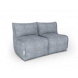 Бескаркасный диван серый