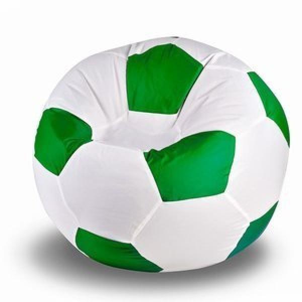 Кресло мяч бело-зелёный