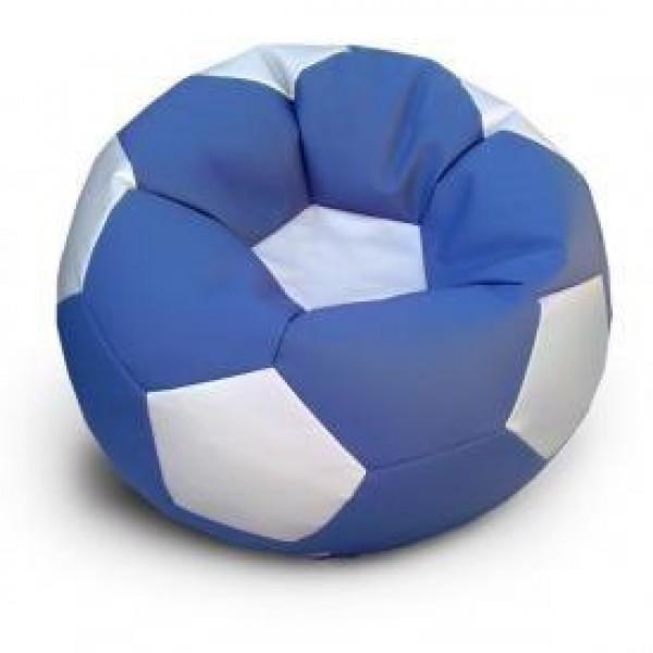 Кресло мяч эко-кожа блю