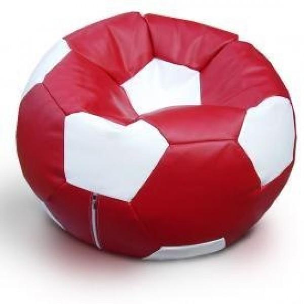 Кресло мяч эко-кожа красно белый