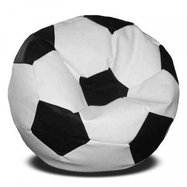 Кресло мяч эко-кожа бело-черное