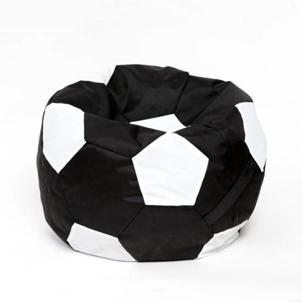 Кресло мяч велюр бело-черное
