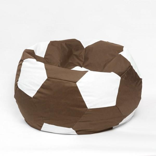 Кресло мяч велюр коричневый