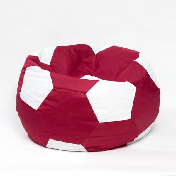 Кресло мяч велюр красное