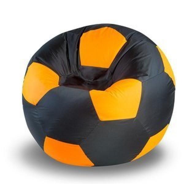 Кресло мяч черно-оранжевое
