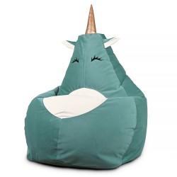 Кресло мешок Единорог аквамарин