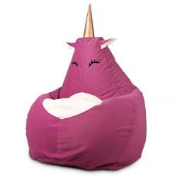 Кресло мешок Единорог розовый